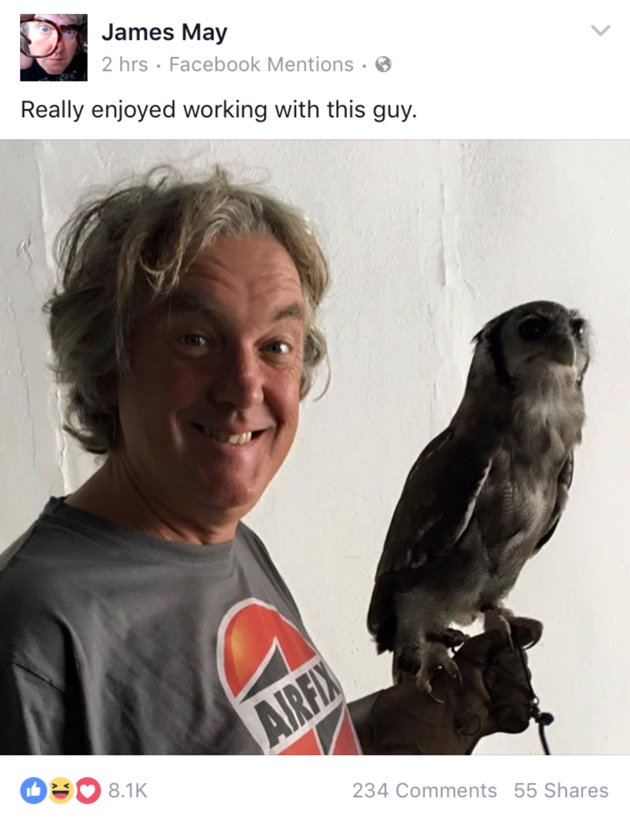falconry uk james may facebook post